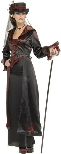 Viktorianska Widow Maker Vuxen dräkt - teknoromantiska Costumes ... a30ed19b04fe4