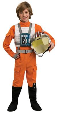 Deluxe X-Wing Fighter Pilot barn dräkt - Star Wars Costumes ... f557d35d13b11