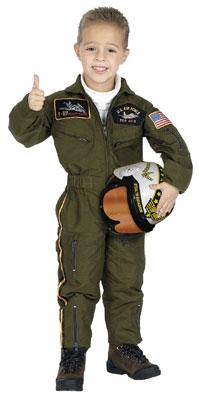 Barn Jr. Air Force Pilot dräkt med hjälm - Pilot Costumes ... 9ad19f1dd4d60