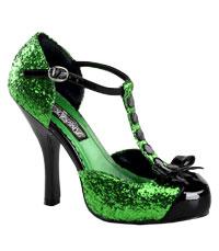 gröna högklackade skor