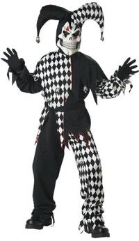 Läskigt onda Jester Vuxen dräkt - läskiga Costumes  3c2c16b7e2a83