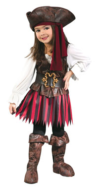 Toddler Sjörövare Pirate Girl Costume - piraten Costumes