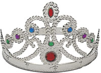 Silver Queen's Crown - Queen Costume costume Accessories