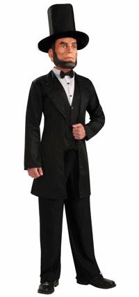Deluxe Den Abe Lincoln Vuxen dräkt - Lincoln Costumes d30e94dfa41c8