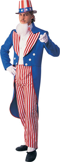 Uncle Sam Vuxen dräkt - Halloween Costumes