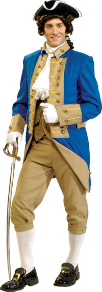 Deluxe George Washington en vuxen dräkt - Colonial Costumes