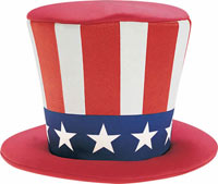 Skum Uncle Sam Top Hat - Patriotic Costume Accessories