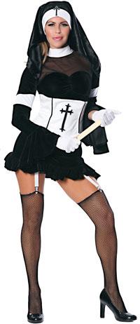Sexiga syster nunna dräkt - nunnan och prästen Costumes dc8f6087e2d0e