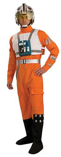Deluxe X-wing Fighter Pilot Vuxen dräkt - Star Wars Costumes 7ea6a12a77421