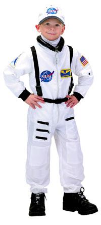 Barn Astronaut dräkt i vitt - Astronaut Costumes 43697bba9348d