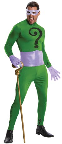 Mens Grand arv The Riddler dräkten - Batman Costumes