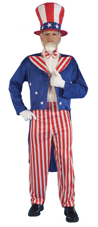 En vuxen Uncle Sam dräkten - Halloween Costumes