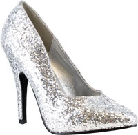 Gilitter Silver skor - Costume Shoes