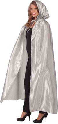 Fancy Silver maskerad Cape - Capes