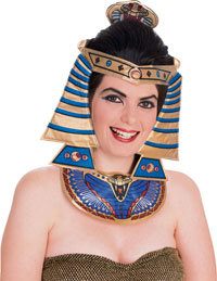 Cleopatra Costume headsetet och halsband - egyptiska Costumes