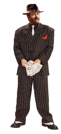 Plus Size Chicago gangster kostym - gangster Costumes da38d5aaa2a34