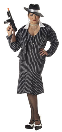 Plus Size maffian Mama gangster kostym - gangster Costumes