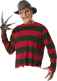 Läskiga vuxna Freddy - EN Nightmare on Elm Street Costumes