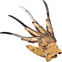 Deluxe Freddy Metall handske - Nightmare on Elm Street Costume costume Accessories