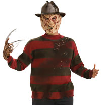 Vuxen Plus Size Freddy tröja - Nightmare on Elm Street Costumes