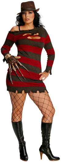 Deluxe Miss Krueger Plus Size dräkten - sexiga Nightmare on Elm Street Costumes