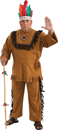 Native American Warrior Plus Size dräkten - Indiska Costumes