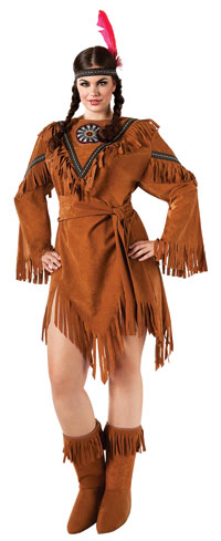 Native American Plus Size dräkten - Indiska Costumes