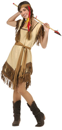 Teen indisk prinsessa dräkten - Native American Indian Costumes