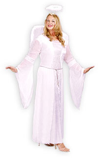 Plus Size Heavenly Angel dräkten - Jul Costumes