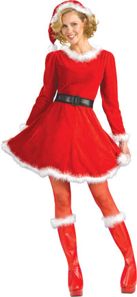 Mrs. Claus Jul dräkten - Jul Costumes