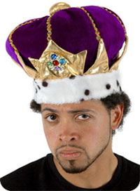 King Crown i lila - King Costumes