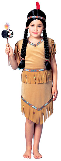 Flickorna Lite Pow Wow Indian Girl Costume - Native American Indian Costumes