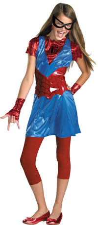 Teen Spidergirl dräkten - Spiderman Costumes
