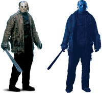 Jason fredag den trettonde vägg slitage 2 Pack - Halloween costume Decorations