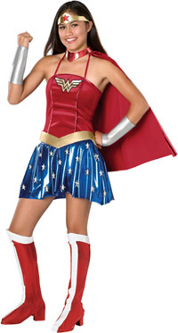 Teen sexiga Wonder Woman dräkt - Wonder Woman Costumes