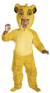 Barn och småbarn Deluxe Simba dräkten - Lejonkungen Costumes 300851cfa4913