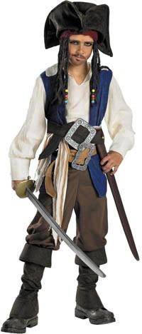 Deluxe-ungar kapten Jack Sparrow dräkten - Pirates of Caribbean Costumes 7ff26051e189c