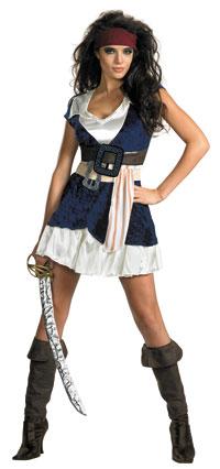 Sassy Jack Sparrow sexiga dräkt - Pirates of Caribbean Costumes 33670b7453a27