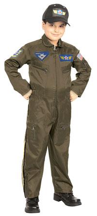 Pojkar Air Force Fighter Pilot dräkten - militära Costumes 9951261cbfacf