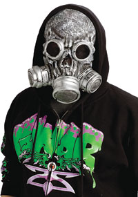 Silver Bio Zombie Gas Mask - Zombie Costumes