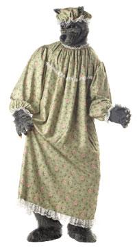 Lilla ridande Rödluvan och Stora stygga vargen Kostymer för par ... c516f58cef235