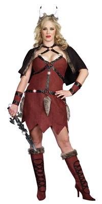 Plus Size Viking Warrior dräkten - sexiga Costumes