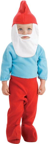 Spädbarn och småbarn Papa Smurf-dräkten - Smurfs Costumes 3e0f758615dd8