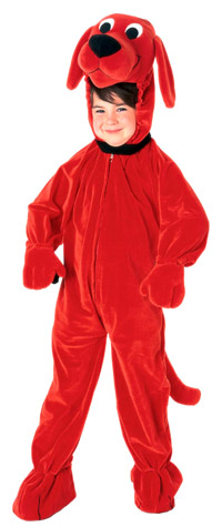 Deluxe Clifford the Big Red Dog barnen dräkten - ungar Costumes
