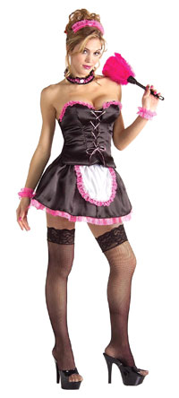 Pinkie Sexy French Maid dräkt - Frency Pigan Costumes