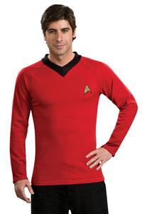 Deluxe Star Trek Röd tröja Vuxen dräkt - Star Trek trek Costumes 44e9f7ccefc12