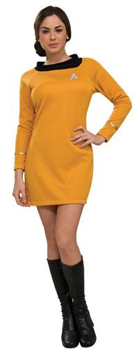 Deluxe Star Trek Guld klänning Vuxen dräkt - Star Trek trek Costumes 71b39be1252cd
